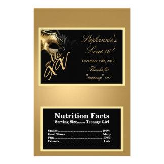 Microwave Popcorn Wrapper Mis XV Gold Flyer