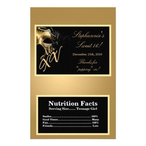 Microwave Popcorn Wrapper Mis XV Gold Flyer | Zazzle