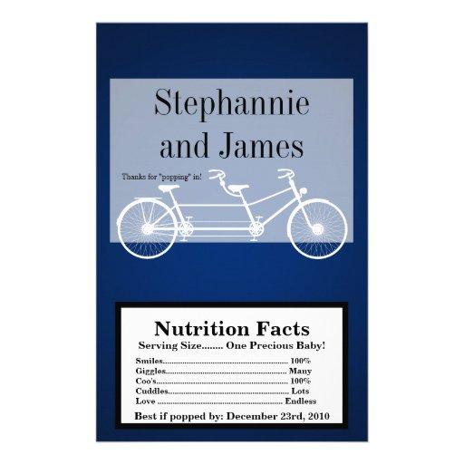 Microwave Popcorn Wrapper Navy Blue Double Bike Custom Flyer