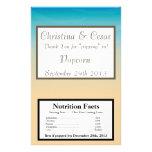 Microwave Popcorn Wrapper Ocean Beach Shore Seashe Personalized Flyer
