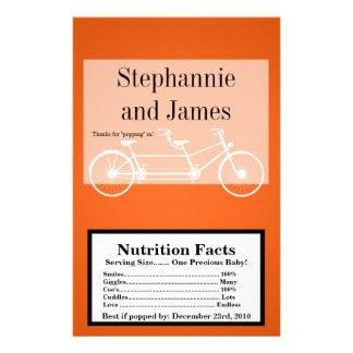 Microwave Popcorn Wrapper Orange Double Bike Flyer