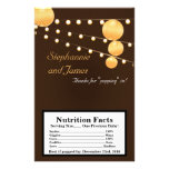 Microwave Popcorn Wrapper Paper Lanterns on Brown Personalized Flyer