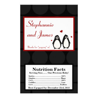 Microwave Popcorn Wrapper Penguin Love Couple Mate Flyer