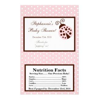 Microwave Popcorn Wrapper Pink Ladybug Flyer