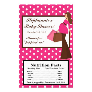 "Microwave Popcorn Wrapper Pink Mod Mom Polka Dots 5.5"" X 8.5"" Flyer"