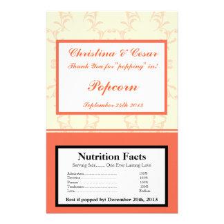 Microwave Popcorn Wrapper Pinkish/Peach Formal Scr