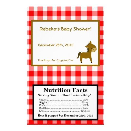 Microwave Popcorn Wrapper Red Barn Farm Animals Flyer   Zazzle