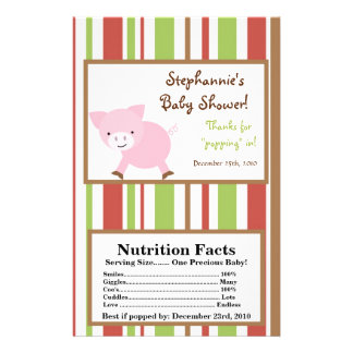 Microwave Popcorn Wrapper Red Barn Farm Pig Flyer
