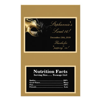Microwave Popcorn Wrapper Sweet 16 Gold Flyer