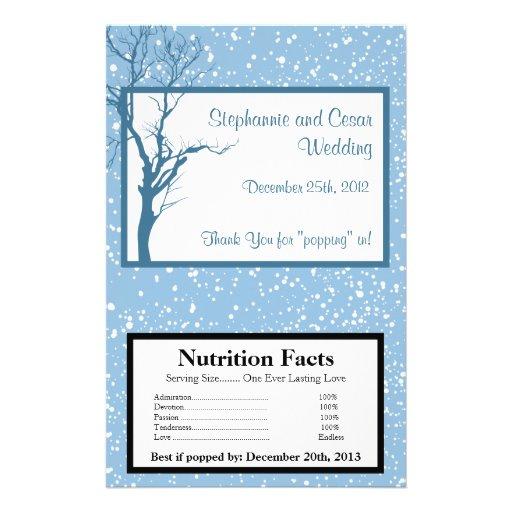 "Microwave Popcorn Wrapper Winter Blue Christmas 5.5"" X 8.5"" Flyer ..."