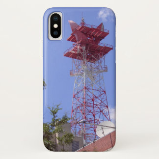 Microwave Relay Radio Telecom Tower iPhone X Case