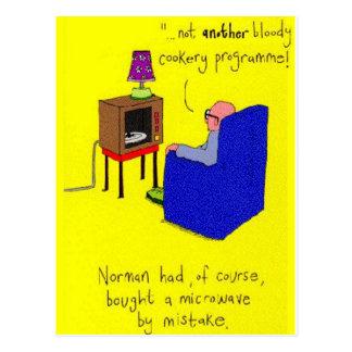 Microwave TV Joke Postcard