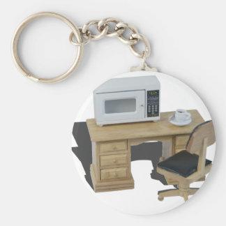 MicrowaveCoffeeOnDesk082414 copy.png Keychain