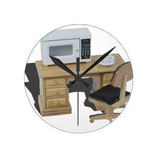 MicrowaveCoffeeOnDesk082414 copy.png Round Clock