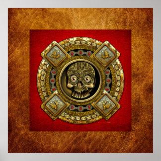 Mictlantecuhtli – Aztec God of Death Poster
