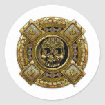 Mictlantecuhtli – Aztec God of Death Round Sticker