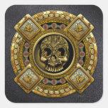 Mictlantecuhtli - dios azteca de la muerte colcomania cuadrada