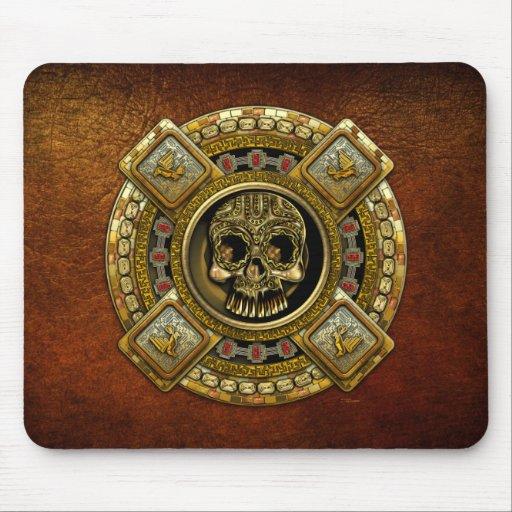 Mictlantecuhtli - dios azteca de la muerte tapetes de ratones
