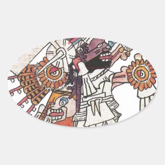 Mictlantecuhtli Oval Sticker