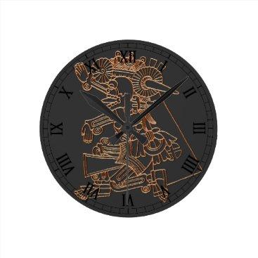 TerryBain Mictlantecuhtli Round Clock