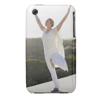 Mid adult woman practicing yoga 2 Case-Mate iPhone 3 case