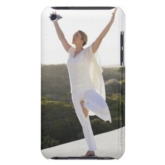 Mid adult woman practicing yoga 2 Case-Mate iPod touch case