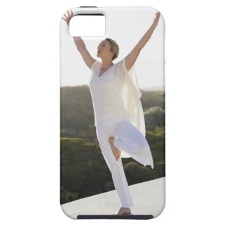 Mid adult woman practicing yoga 2 iPhone SE/5/5s case