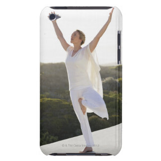 Mid adult woman practicing yoga 2 iPod touch Case-Mate case