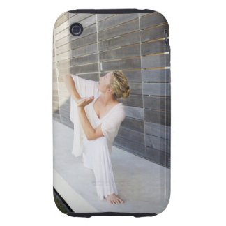 Mid adult woman practicing yoga tough iPhone 3 cover