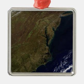 Mid-Atlantic United States Square Metal Christmas Ornament