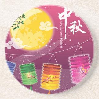 Mid Autumn Festival Background Coasters
