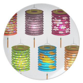 Mid Autumn Festival - Paper Lantern Party Plates