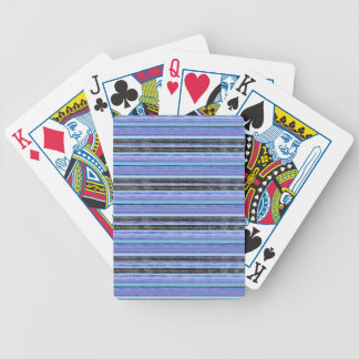 Mid Blue Ombre Multi Stripe Bicycle Playing Cards