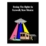 Mid-Century Alien UFO Sighting ROSWELL Postcard