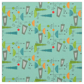Mid-Century Atomic Era Inspired Nuclear Age Fabric