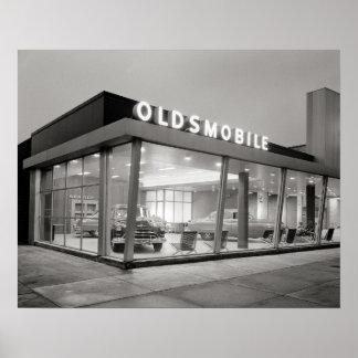 Mid-Century Auto Dealership, 1950. Posters