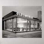 Mid-Century Auto Dealership, 1950. Vintage Photo Poster