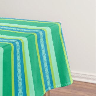 Mid-Century awning stripe - jade green Tablecloth