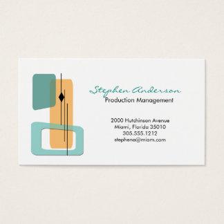 Mid Century Business Card
