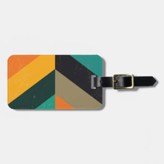 Mid Century Chevron Luggage Tag