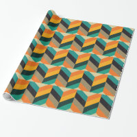 Mid Century Chevron Wrapping Paper