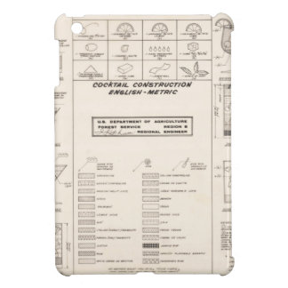 Mid Century Cocktail Construction Chart iPad Mini Cover