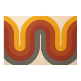 Mid Century Curves Wood Wall Art (36u0026quot ...