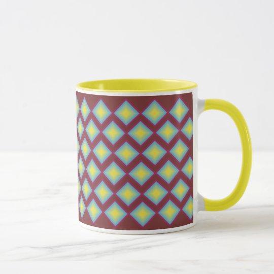 Mid century diamond design mug