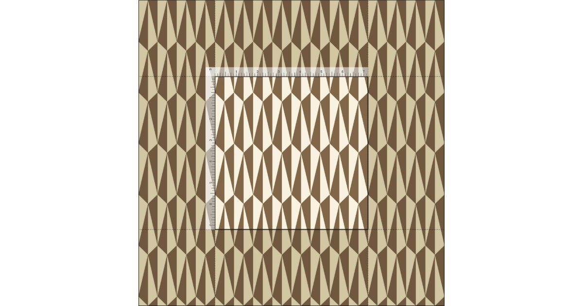 Mid century geometric taupe and beige fabric zazzle - Beige slaapkamer taupe ...
