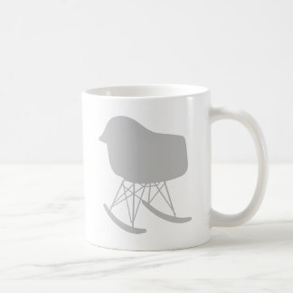 Mid-Century Gray Pattern Chair Silhouette Coffee Mug