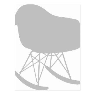 Mid-Century Gray Pattern Chair Silhouette Postcard