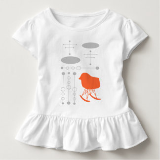 Mid-Century Gray Pattern Chair Silhouette Toddler T-shirt
