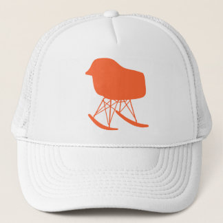 Mid-Century Gray Pattern Chair Silhouette Trucker Hat
