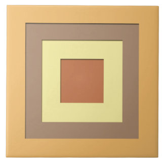 Mid-Century layered squares - Earth neutrals Tile
